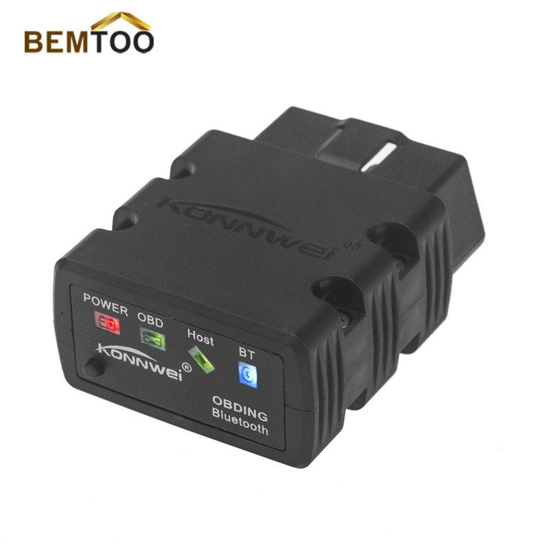 2015 Latest Mini ELM327 Bluetooth KW902 OBD-II Car Auto Diagnostic Scan Tools Free Shipping(China (Mainland))