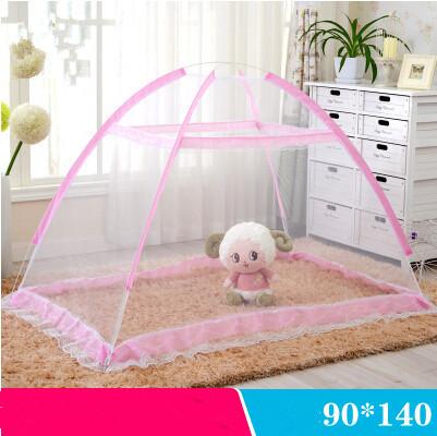 Поставляет портативный детских сетки детской кроватки москитная сетка синий розовый полиэстер сетка складная кровать сеть Cuna porttil