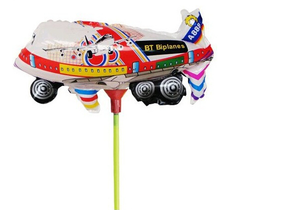 Free Shipping 50 Pcs RC Balloon Aircraft Helicopter DIY Flying Balloon Plane Toy Multi-colour High Quality, foil balloons,(China (Mainland))