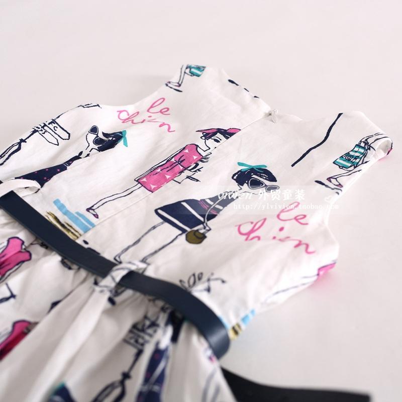 Скидки на 2016 Новая мода лето стиль детей одеть платье принцессы для девочек вышивка одежда дети платье