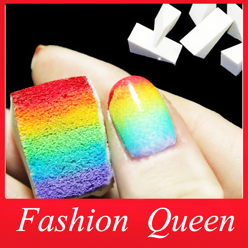 Nail Art Tools,Gradient Nails Soft Sponges for Color Fade Manicure,16pcs/lot DIY Creative Nail Accessories Supply, Free Shipping(China (Mainland))