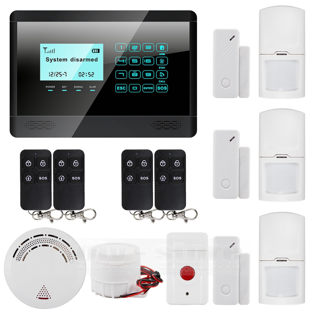 433 MHz Sensor Wireless GSM SMS TEXT Home House Alarm System LCD Screen House Intruder Voice 850/900/1800/1900MHz<br><br>Aliexpress
