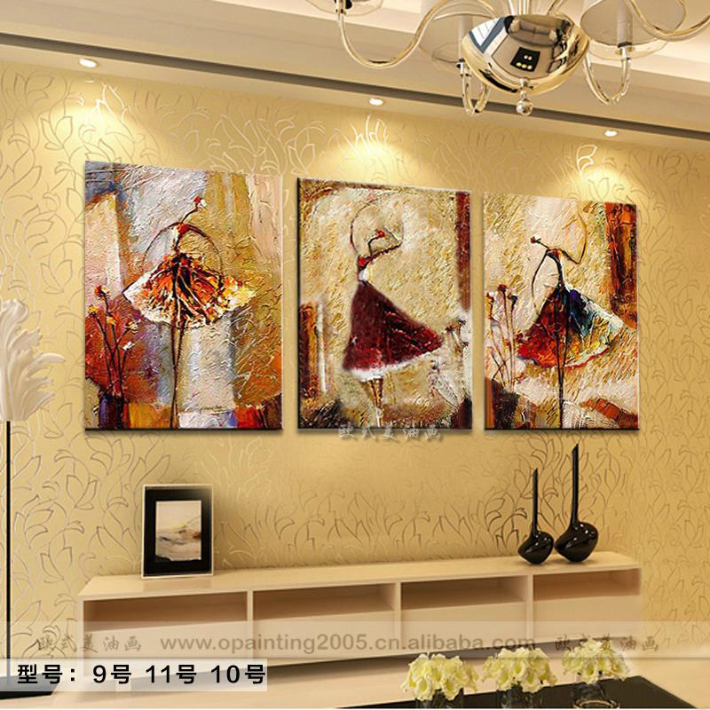 Aliexpresscom Buy Hand Painted Home Decor Canvas Art