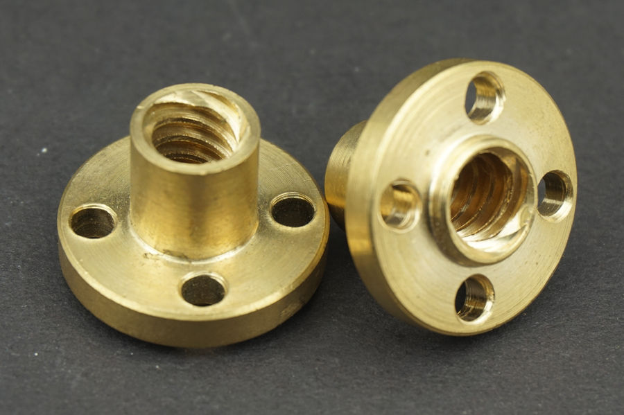 10PCS/Lot Lead Screw nut copper brass flange Nut For 3D Printer trapezoidal lead screw(China (Mainland))