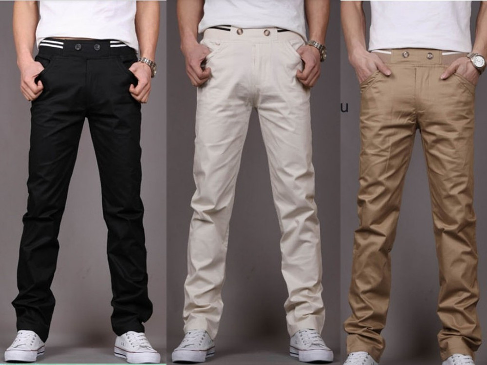 Myntra brings you the best chinos online, with a plethora of options for men, women and kids. A pair of bright red or yellow chino trousers is a must-have for women. Wear a pair of red slim-fit pants with an off-white long-sleeved top with a V-neck. Choose yellow ballet flats to complete your street-style.