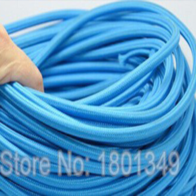 10 meters blue color 2 textile electrical wire color braided wire fabric covered. Black Bedroom Furniture Sets. Home Design Ideas