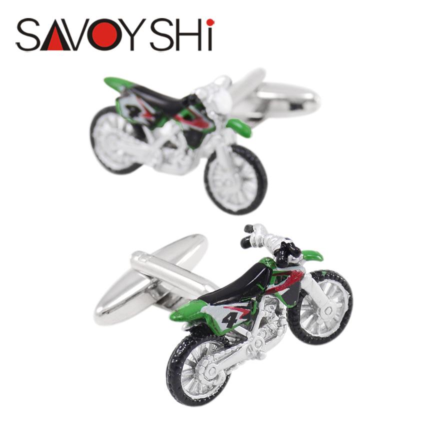 Novelty Motorcycle Modeling Cufflinks for Mens Shirt Cuff High Quality Colorful Enamel Cuff links Fashion SAVOYSHI Brand Jewelry(China (Mainland))