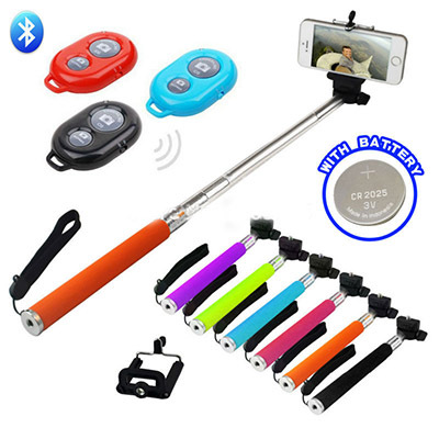 Palo pau de selfie extendable stick monopod selfie stick bluetooth tripod for iphone 5 6 sumsung camera stand gopro hero4 sj4000(China (Mainland))