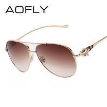 Luxury diamond metal Fox shape sunglasses women brand designer Aviation glasses Vintage mirror coating sun - AOFLY Fashion Glasses store