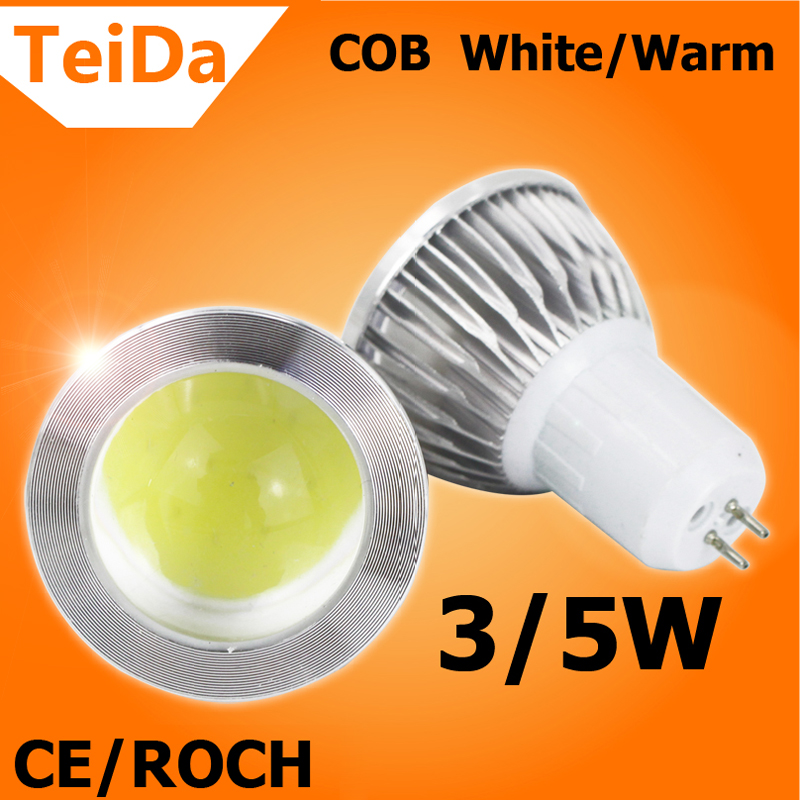 2016 NEW Arrival GU5.3 LED Bulbs Lampholder 3W/5W 220V Emit Warm White/White Lamps Good Quality for Home or Bedroom(China (Mainland))