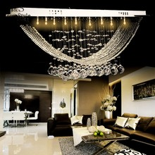 Homestyle Modern Crystal Chandelier Light, Crystal Pendant Lamp, Crystal Luster Lighting With 10 G4 lights 58(China (Mainland))