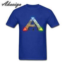 Цельнокроеная футболка ARK Survival, развивающая игра престолов, мужские футболки с коротким рукавом из хлопка, Джокер, круглый воротник, chemise homme(China)