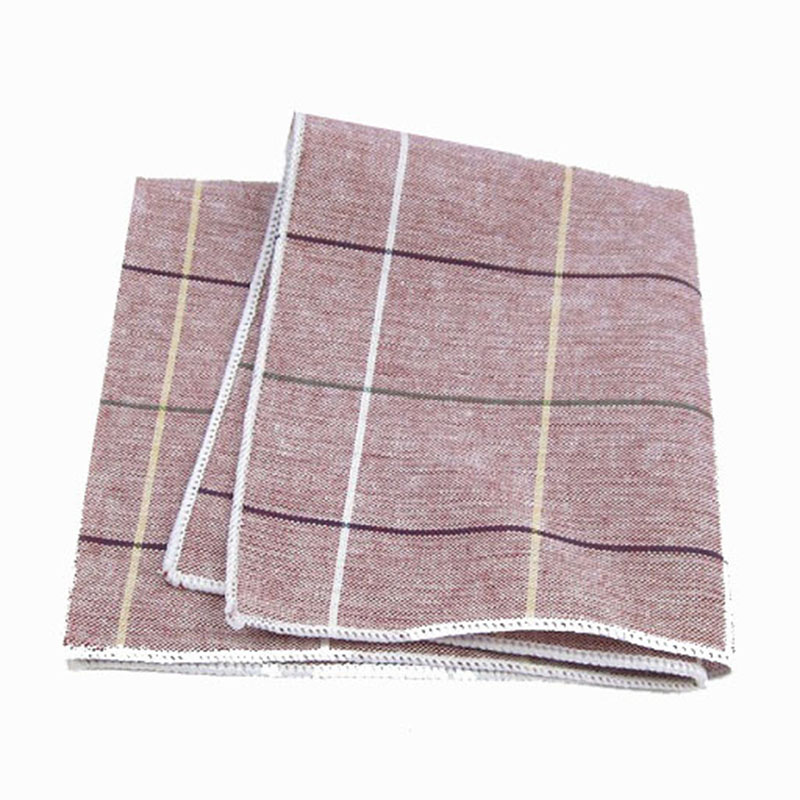 New Fashion 100 Cotton Vintage Plaid Handkerchiefs Wedding or Party Men's Suit Pocket Square Business Casual Towel MHLY018(China (Mainland))