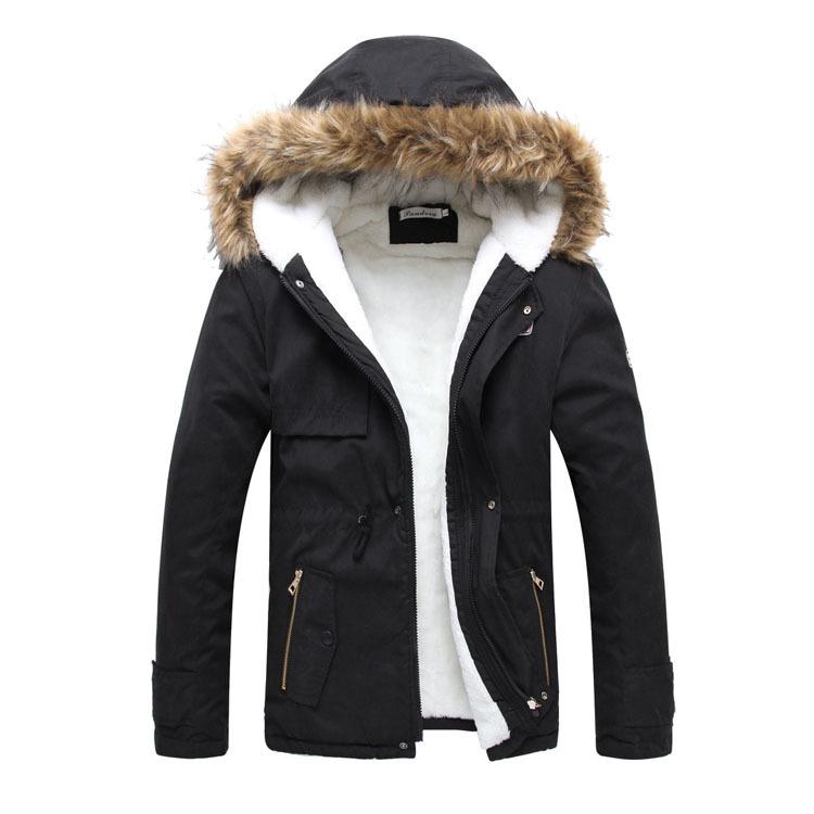 High Quality  Male Long Hooded Warm Coat  Thickening Outerwear Male  Hat  Detachable Men's Jacket Men Coat Slim Outerwear Coat