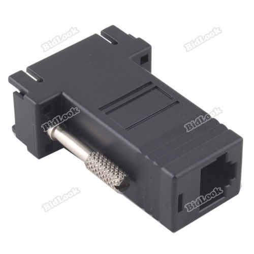 tradebus Extender VGA Male to RJ45 LAN CAT5 CAT6 Network Cable Female Adapter Kit [Hot](China (Mainland))