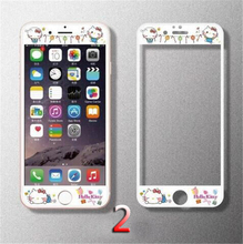 3D Edge carton Tempered Glass Screen Protector for Apple iPhone 6 6s Plus Case Cover Capinha Coque