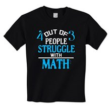 Buy GILDAN man t shirt 4 3 People Struggle Math Funny Stupid Fraction Mens T-Shirt for $12.65 in AliExpress store