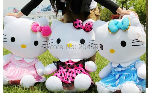 Hello Kitty Toys 50cm and 75cm Doll Stuffed Animal TOY wholesale Plush toy Free Shipping K750-88(China (Mainland))