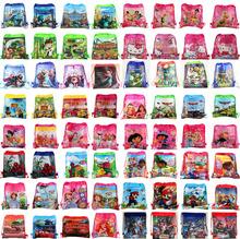 4Pcs Despicable Me Princess Anna Elsa Sofia Cars Cartoon Kids Drawstring Printed Backpack Beach Shopping School Traveling Bags(China (Mainland))