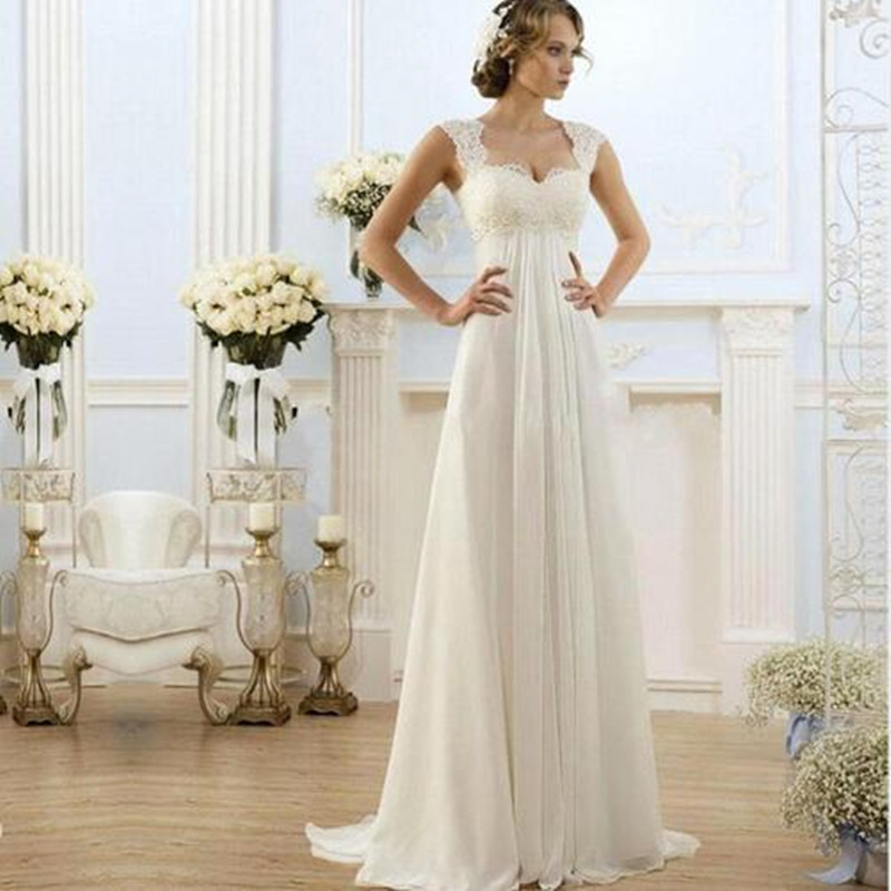 Elegant Wedding Dresses For Pregnant Brides : Elegant simple wedding dresses pregnant a line cap