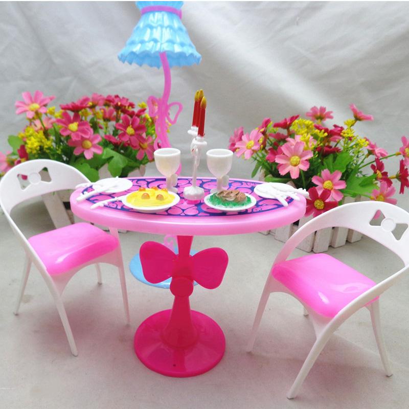 10Set/Lot Wholesale Accessories Doll Dining Set Plastic Mini 1/6 Doll Furniture<br><br>Aliexpress