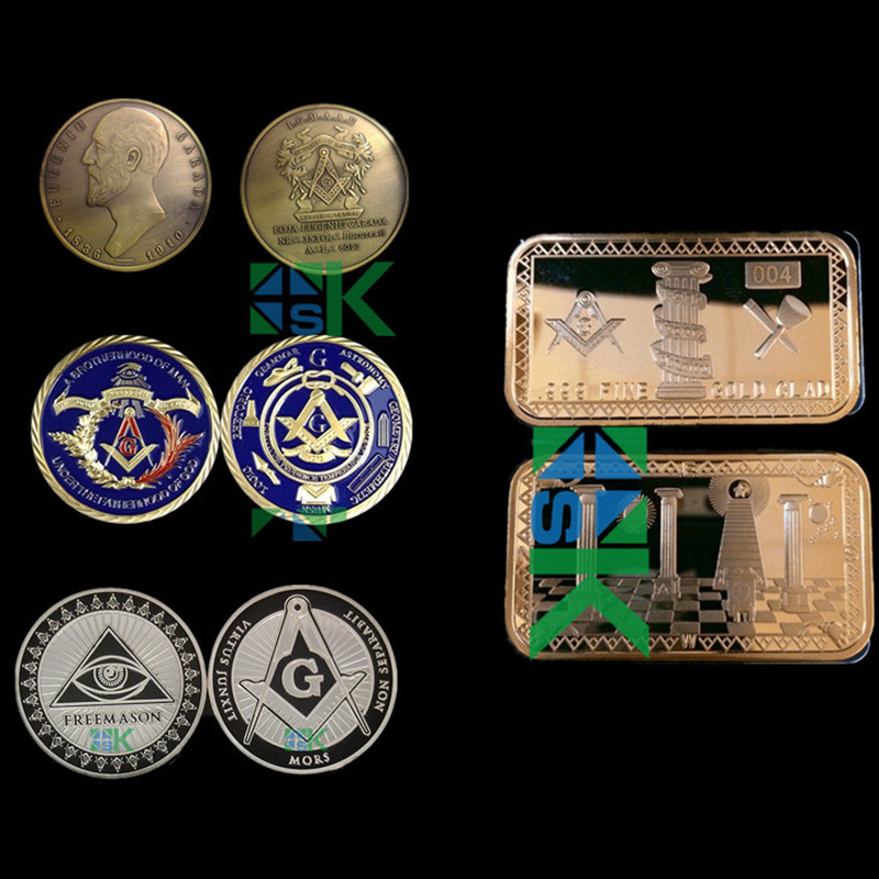 Mix Metal Craft Freemason Series Coin Bar Age Of Discount