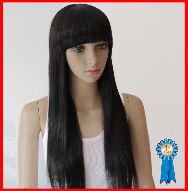 70CM 190G Silky straight Synthetic Hair Full wigs/Fashion wigs(#2 black,#2t33 dark brown,#2t30 light brown),free shipping