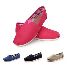Scarpe donne libere di trasporto donne scarpe basse moda uomo  Di vendita delle donne calde mocassini scarpe casual classico donne canvas  Piatto(China (Mainland))