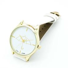 Irisshine p70 Lady Women Girl watch gift New brand luxury Womens Umbrella Style Leather Band Analog Quartz Wrist Watch(China (Mainland))