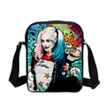 Hot Suicide Squad Messenger Bags For Students Harley Quinn School Bags For Girls Funny Joker Printing
