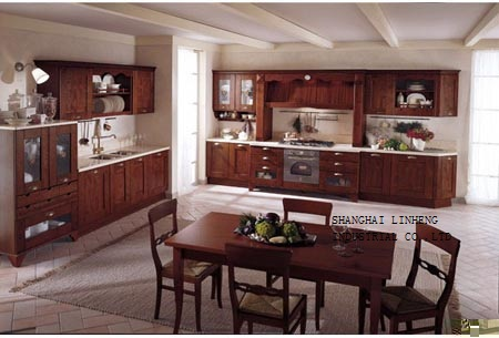 modular solid wood kitchen cabinets(LH-SW034)(China (Mainland))
