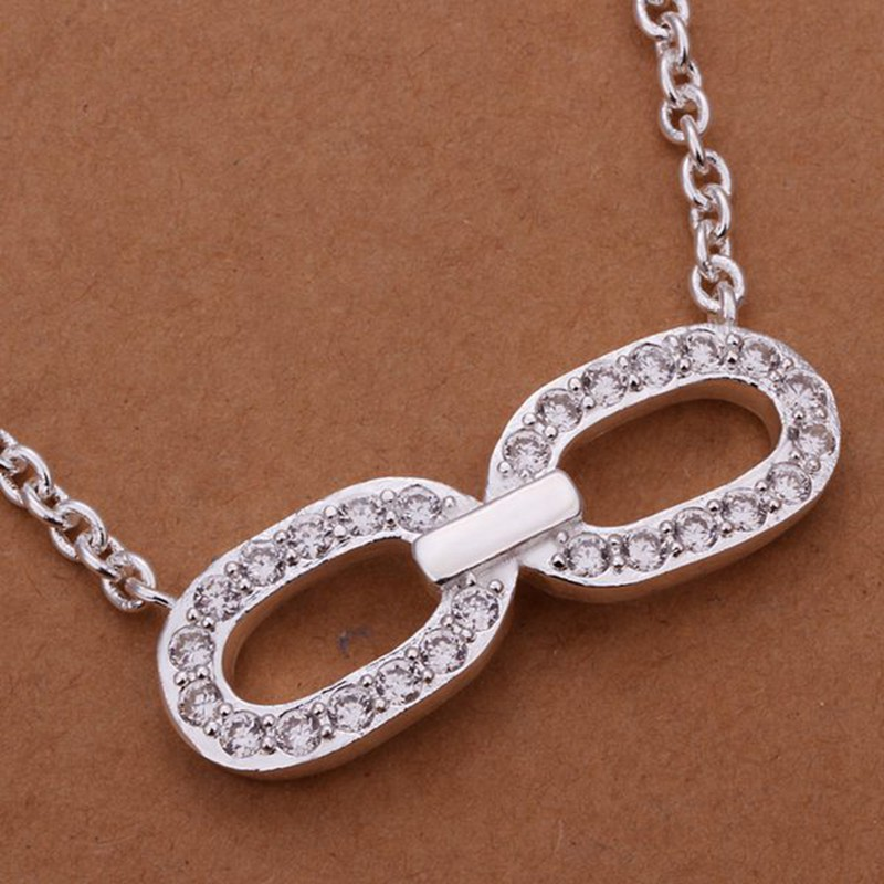 Silver Necklace Pendant,925 jewelry silver plated Necklace /NZXBTIQY KSIHIHCQ(China (Mainland))