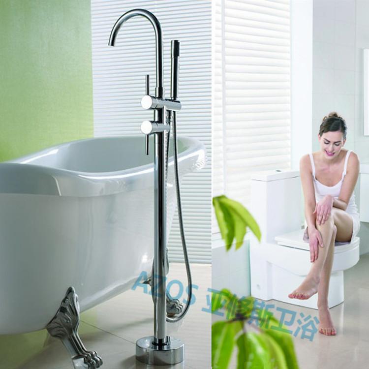Chrome faucets bathroom