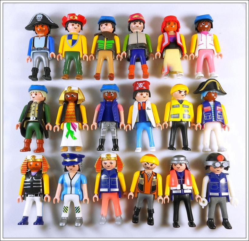 5PCS Playmobil Figures Knights people horses Native American random Child Toy Loose(China (Mainland))