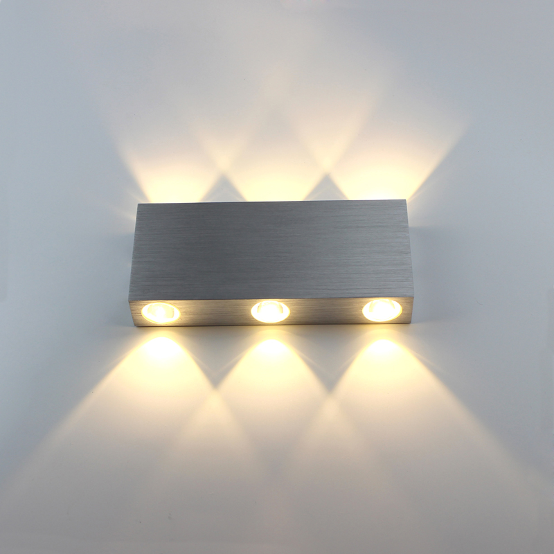 New LED Modern Wall Light Aluminum 6W 6 LEDS Warm White For Hallway Bedroom Corridor Porch AC ...