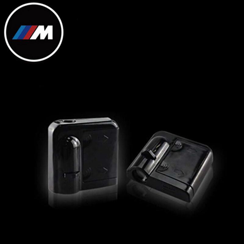 Welcome 2 PCS/wireless door light marks no type drill LED for BMW M1 M635CSI M5 M3 E26 E34 E36 E39 E46 E90 E89 E91 E92(China (Mainland))