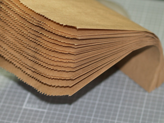 "50 Kraft Paper Bags 5"" x 7"" Merchandise Bags Packaging Wedding Favor Kraft Treat Bags Printable DIY Gift Bags Plain Brown(China (Mainland))"