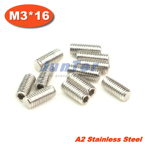 500pcs/lot DIN913 M3*16 Flat Point Grub Screws Stainless Steel<br><br>Aliexpress