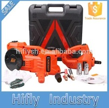 HF-450 Lifting 15cm to 45cm Car Electric jack car air pump car electric wrench 3 in 1 Auto multi-function maintenance tools