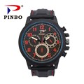 2017 New PINBO Brand Men Sports Racing Quartz Watch Men Silicone Strap Military Wrist Watches Relogio