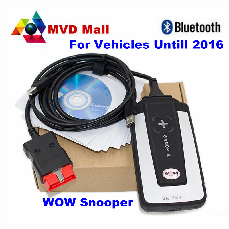 2016 Newest V5.008 R2 WoW SNOOPER With Bluetooth Cars Trucks Diagnostic Tool New WOW VCI Better Than TCS CDP PRO Free Shipping(China (Mainland))