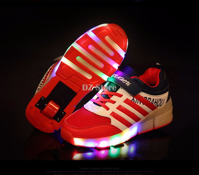 Kids Sport Light Up Trainers Toddler Baby Girls Boy Led Luminous Outdoor Shoes Sneakers Unisex Halloween Girl Anti-Slip Skate School Children Running Casual by YONSIN
