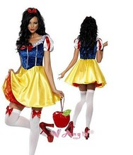 Plus Size Adult Snow White Costume Halloween Costumes For Women Fairy tale Clothes Dress Female  XL