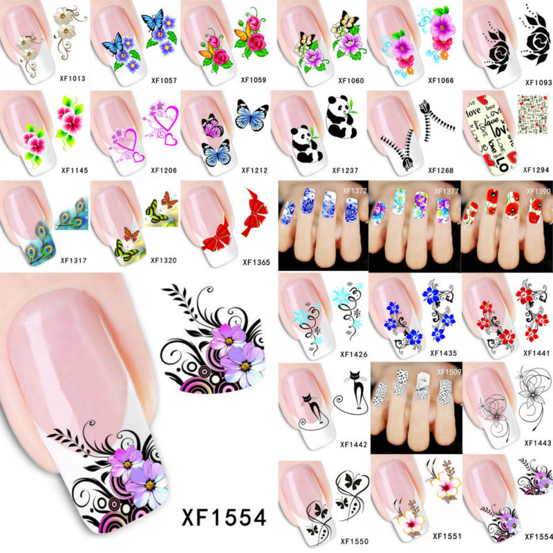 1 Sheet 2016 Top Sell Flower Bows Etc Water Transfer Decoration Sticker Nail Art Water Decals Stickers For Nails Sticks NXFSSS2(China (Mainland))
