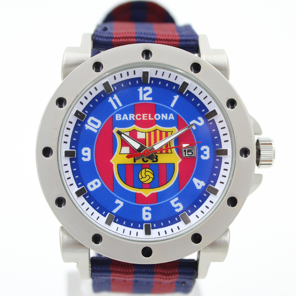 Гаджет  2014 New arriver men fashion casual watch  foot ball watch complete calendar analog alloy dial nylon strap wristwatches None Часы