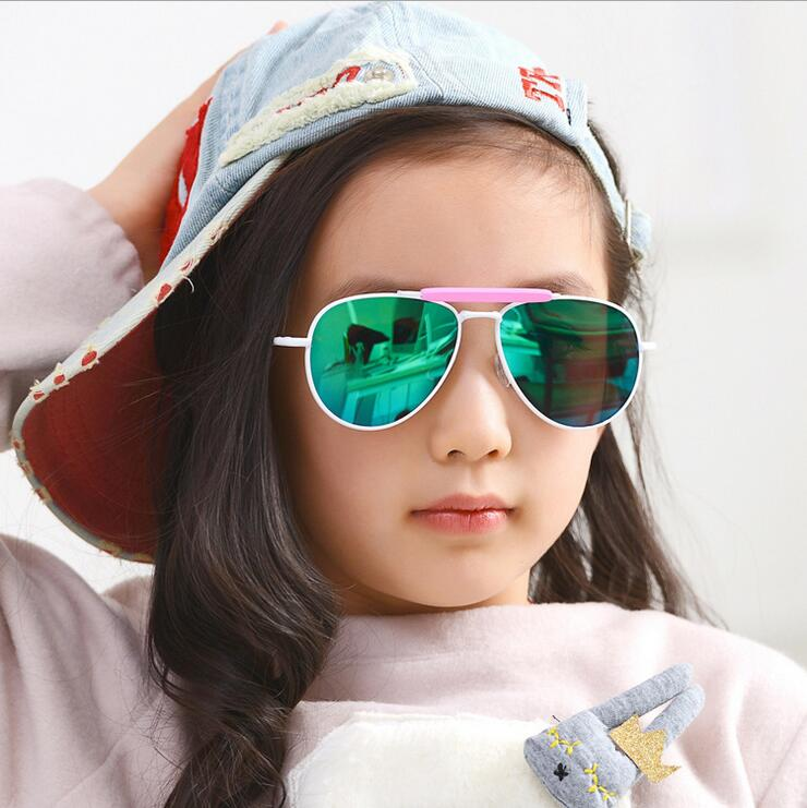 Color film Reflective Children Sunglasses For Kids Mirror Reflective Girls Sun Glasses Many Volors kk1615