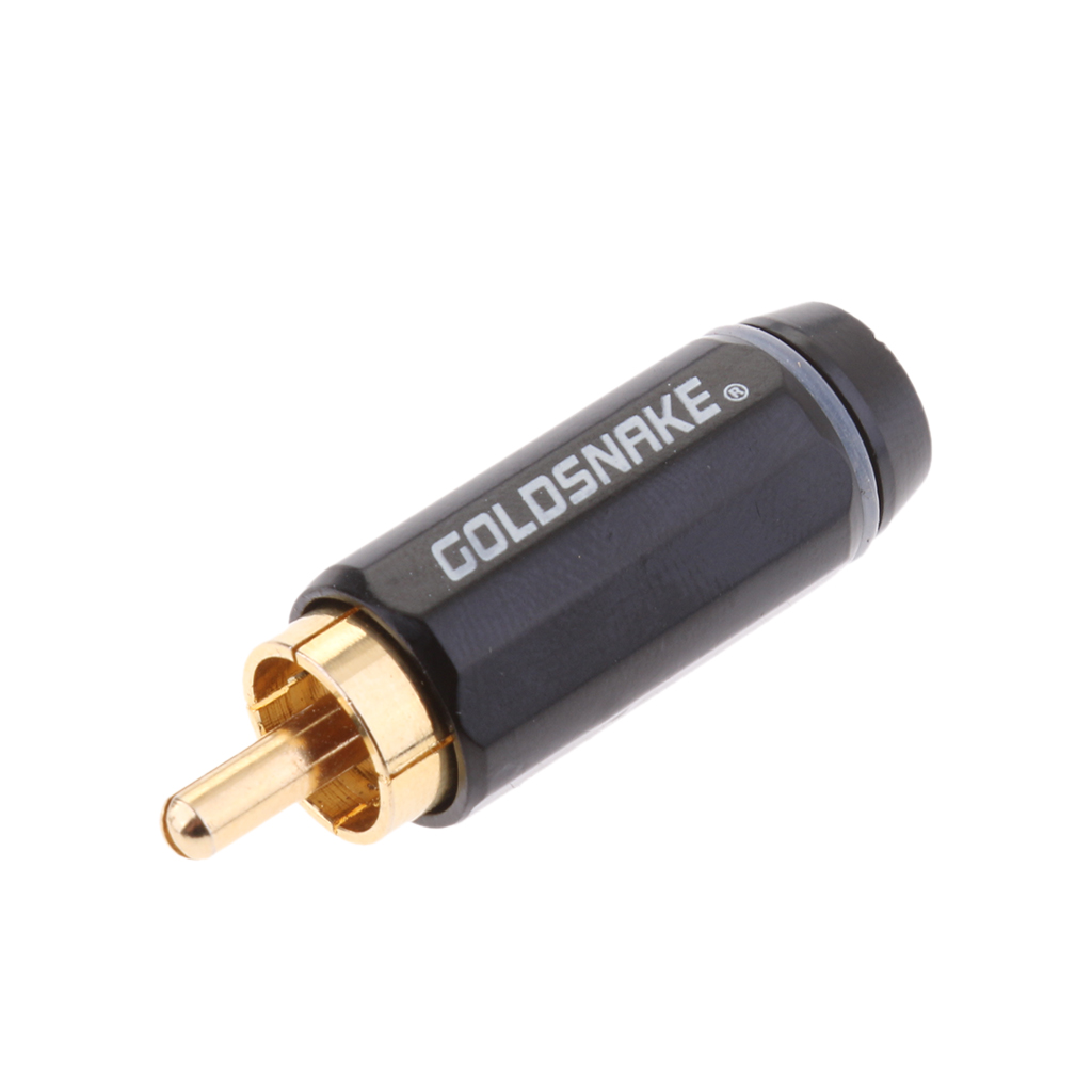 2 Pieces 3.5mm Mono Female Jack to RCA Male Plug Audio Adapter