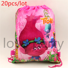 Buy 20pcslot Lovely Trolls Non-Woven Fabric Backpack Kids Favors Drawstring Bags Baby Shower Birthday Party Decoration Supplies for $18.82 in AliExpress store