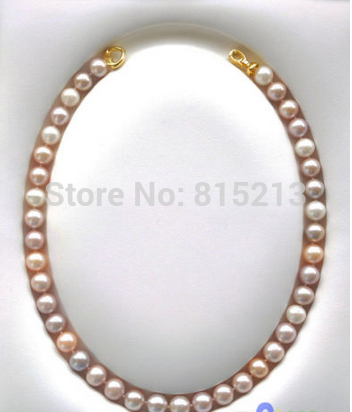 ddh001499 AAA++ 17 10-11mm ROUND PINK LAVENDER PEARL NECKLACE<br><br>Aliexpress