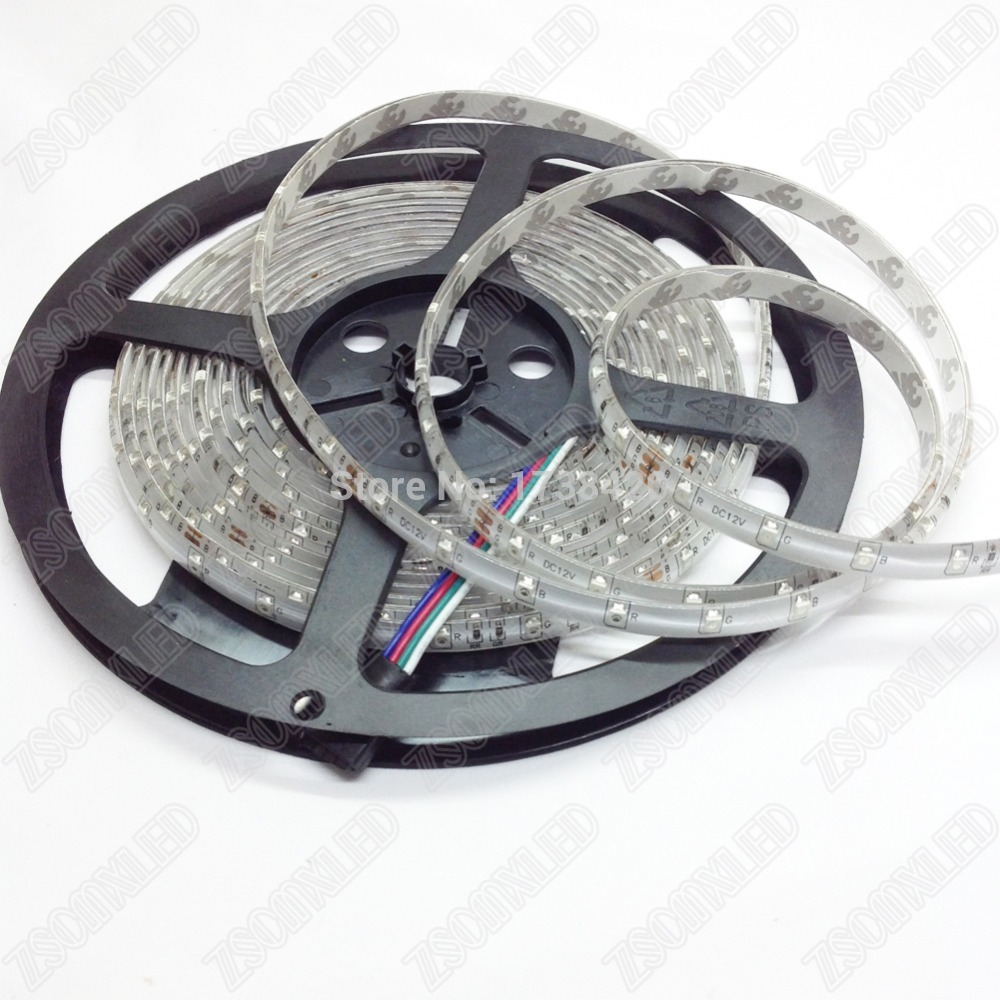 Wholesale free shipping Good Quality 60led/m DC12v Ip65 Waterproof LED Strip light SMD3528 Strip Lighting,100meter(China (Mainland))